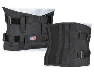 VALC10 Lumbosacral Orthosis Front and Back View