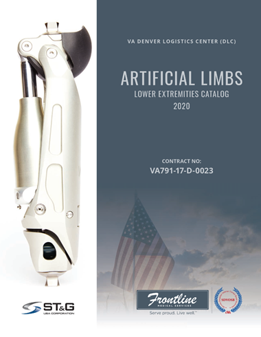 Catalog Cover Denver Logistics Center DLC Contract Artificial Limbs Lower Extremities