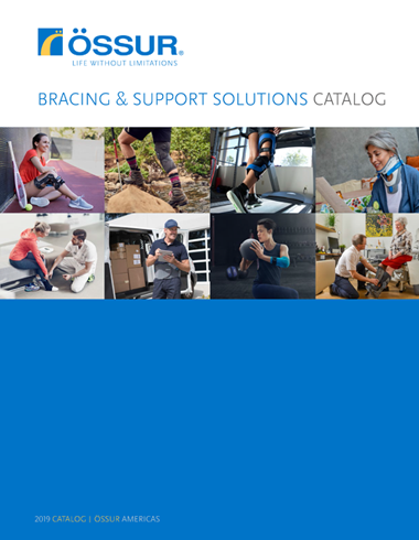 Catalog Cover Ossur Bracing and Support Solutions