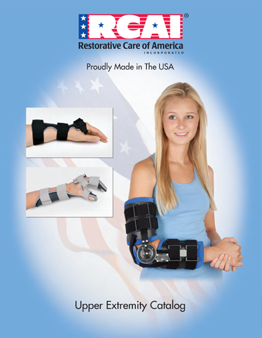 Catalog Cover RCAI Restorative Care of America Upper Extremity Products Made in the USA