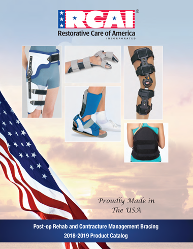 Catalog Cover RCAI Restorative Care of America Post-op Rehab and Contracture Management Bracing