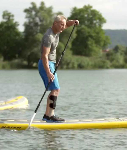 Ottobock Ankle Foot Orthosis AFO man paddle board profile