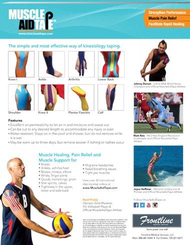 Product Sheet MuscleAidTape Kinesiology Tape