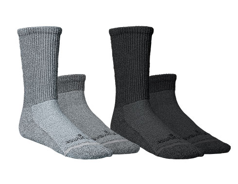 Incrediwear Circulation Socks grey and black, crew and ankle style