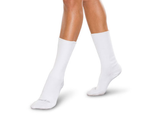 Knit-Rite SmartKnit Seemless Diabetic Sock white