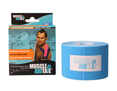 MuscleAidTape Kinesiology Tape - color Blue