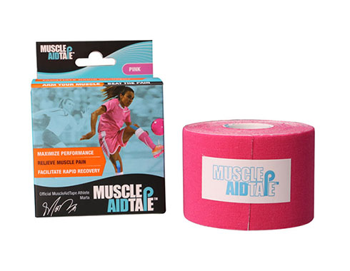 MuscleAidTape Kinesiology Tape - color Pink