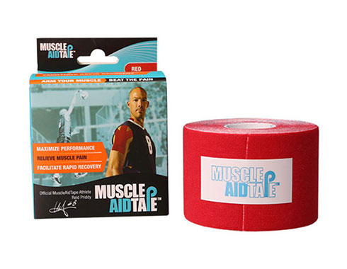 MuscleAidTape Kinesiology Tape - color Red