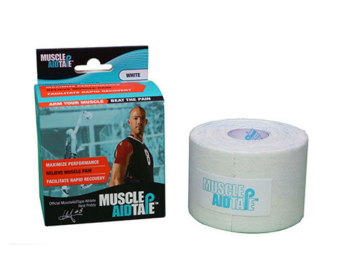 MuscleAidTape Kinesiology Tape - color White