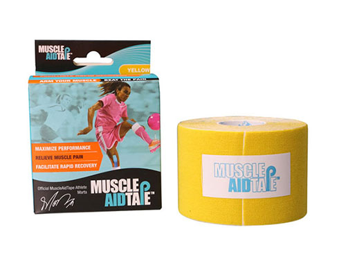 MuscleAidTape Kinesiology Tape - color Yellow